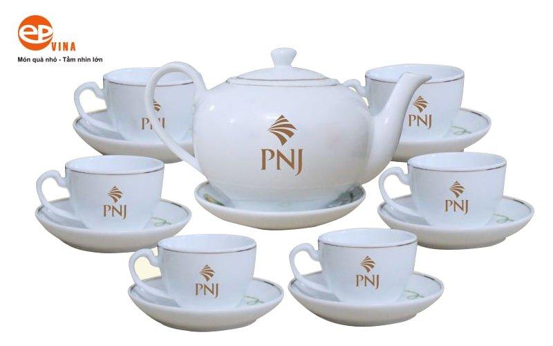 bộ ấm trà in logo