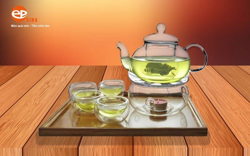 ấm trà thủy tinh cao cấp