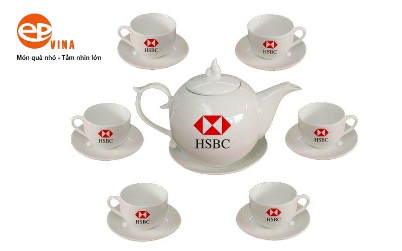 in logo lên bộ ấm chén trà đẹp, giá rẻ làm quà tặng