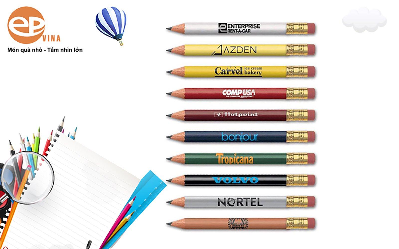 bút chì in logo công ty