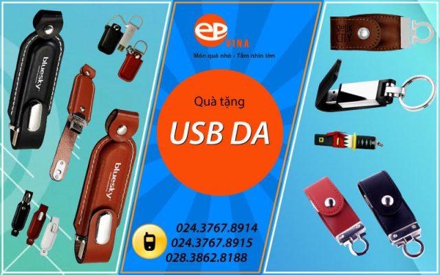 Xưởng sản xuất quà tặng USB da quảng cáo doanh nghiệp theo yêu cầu