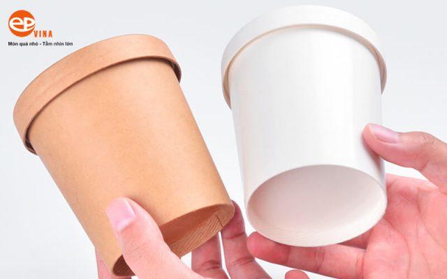 cốc dùng 1 lần nắp bằng giấy