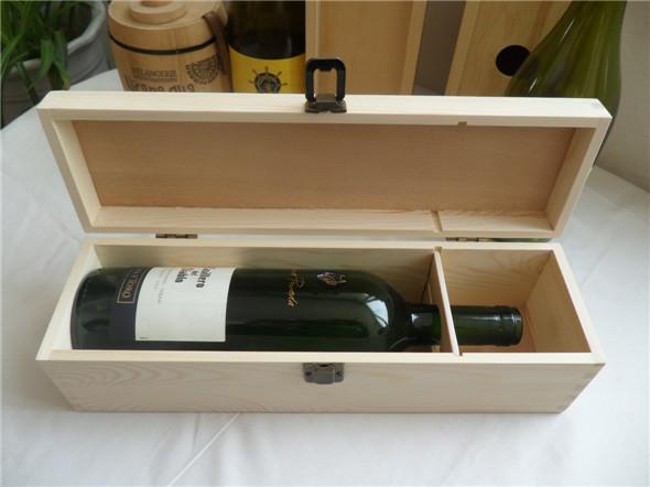 Hộp rượu gỗ thông, hộp rượu làm từ gỗ thông sang trọng và tinh tế