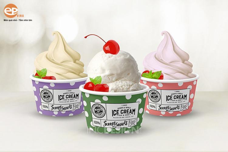 tô đựng kem dùng một lần