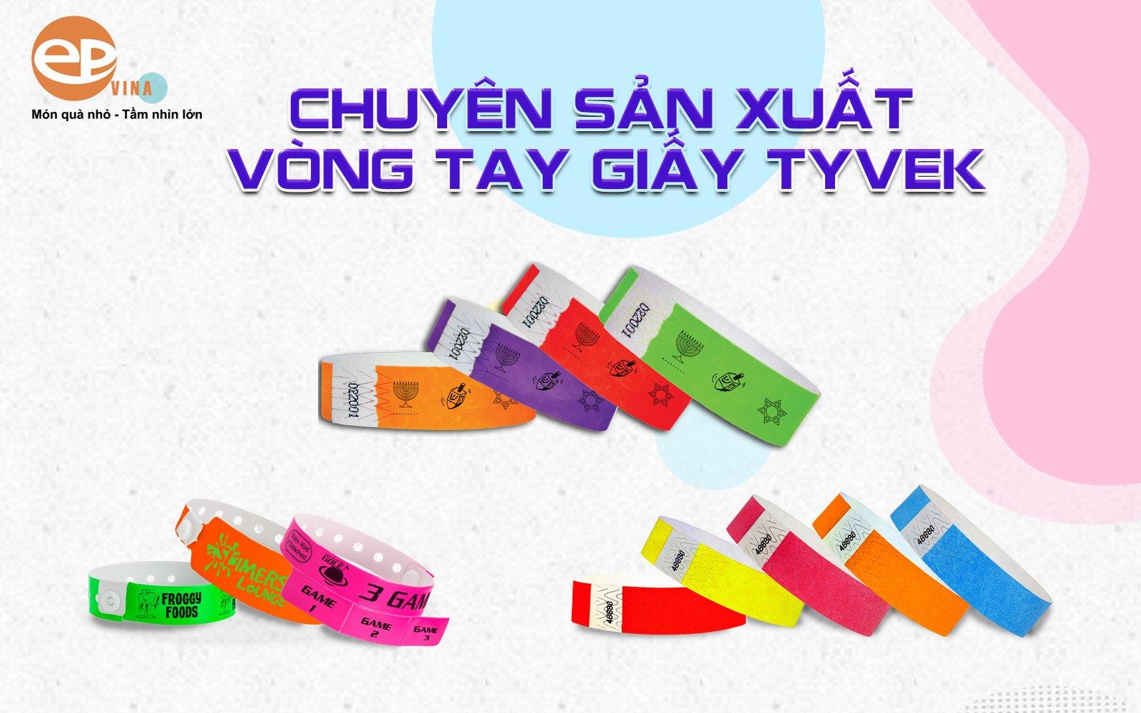 In vòng đeo tay bằng giấy Tyvek sự kiện dùng 1 lần giá rẻ
