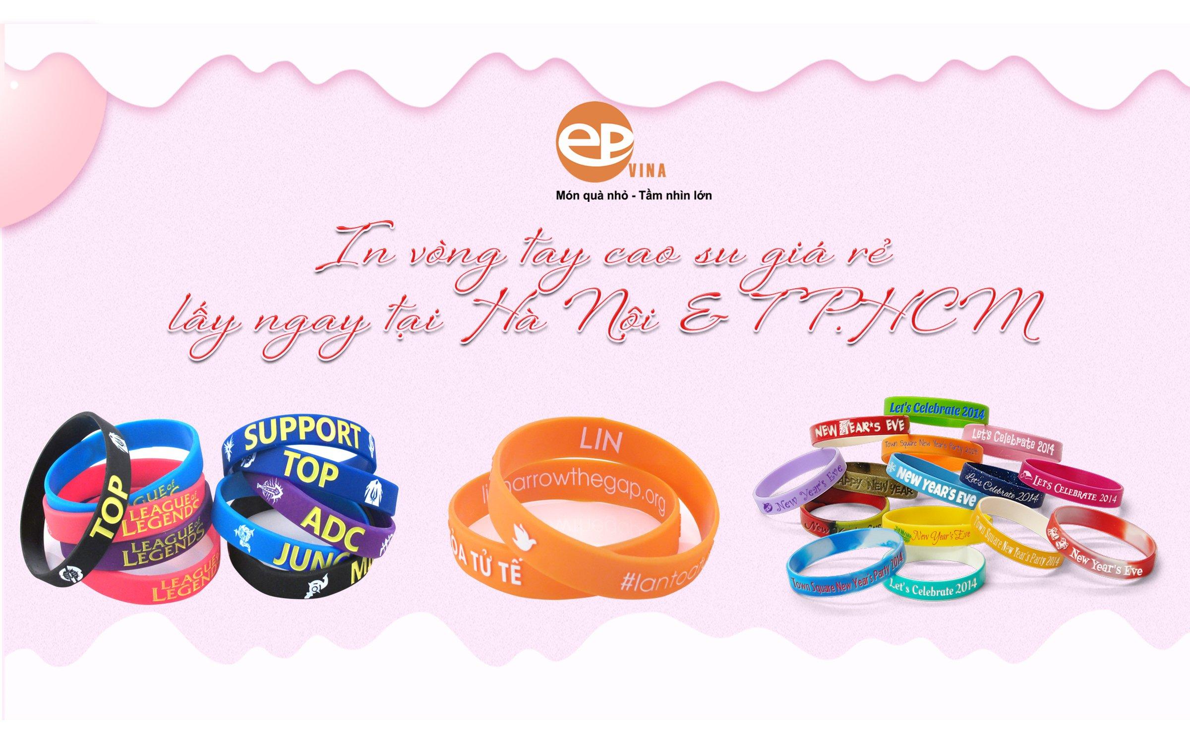 Đặt làm vòng đeo tay cao su in theo yêu cầu giá rẻ tại Hà Nội & TPHCM