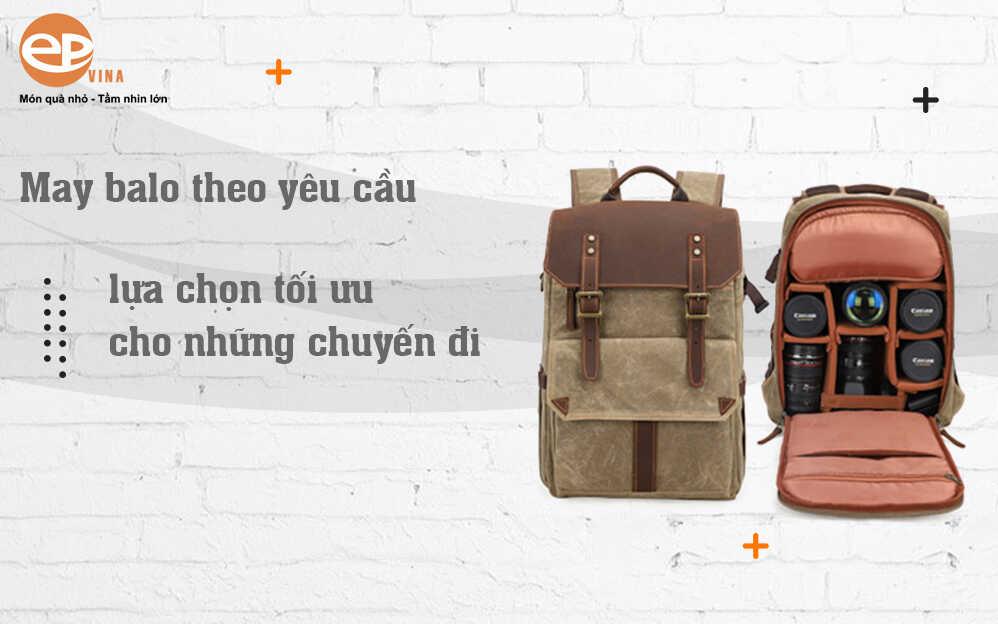 Đặt may balo quảng cáo theo yêu cầu tại Hà Nội & TPHCM