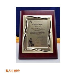bang chung nhan 009