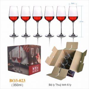 Bộ 6 ly rượu vang 023 - 350ml