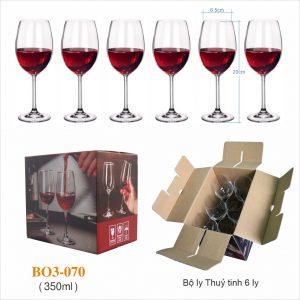 Bộ 6 ly rượu vang 070 - 350ml