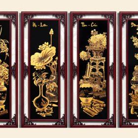 Tranh gỗ mạ vàng