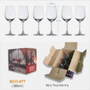 Bộ 6 ly rượu vang 077 - 380ml