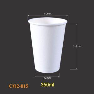 Cốc giấy trắng có sẵn 015 - 350ml