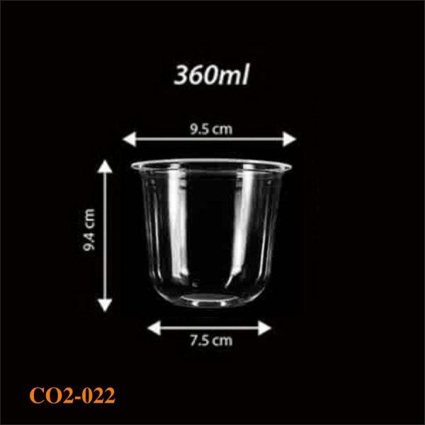 Cốc nhựa 1 lần có sẵn 022 - 360ml