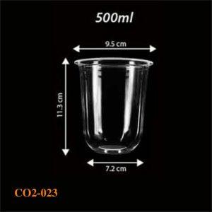 Cốc nhựa 1 lần có sẵn 023 - 500ml